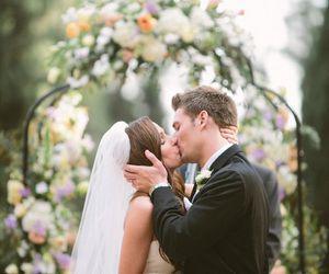 bride, dress, and kiss image
