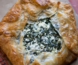 greek, spinach, and phyllo image