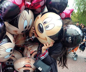 disney, balloons, and minnie image