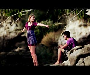 Joe Jonas, purple, and Taylor Swift image