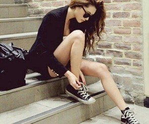 actress, beautiful, and black converse image