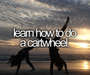 cartwheel and bucket list image