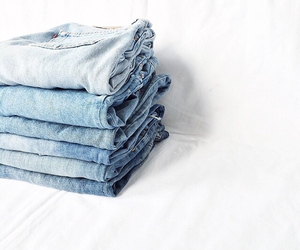 blue, jeans, and white image