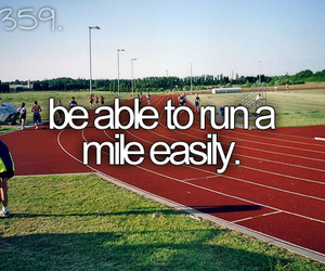 run, before i die, and mile image