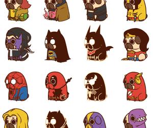 pug, Marvel, and dog image