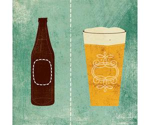 beer, illustration, and vintage image