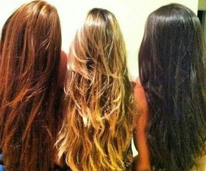 hair, friend, and girl image