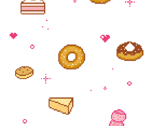 pixel art, yummy, and cute image