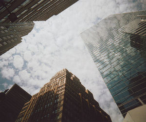 city, sky, and building image