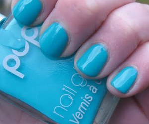 blue, Hot, and nailpolish image