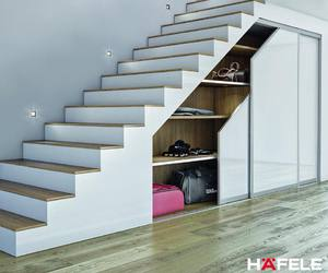 interior design, staircase, and storage image