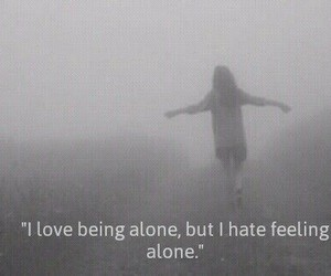 alone, truth, and love image