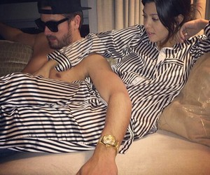 kourtney kardashian, love, and scott disick image