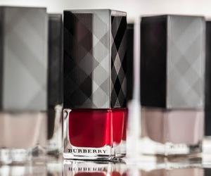Burberry, nail polish, and wow image