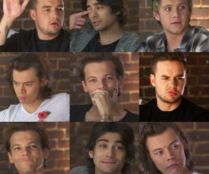 funny faces, 1d, and liam payne image