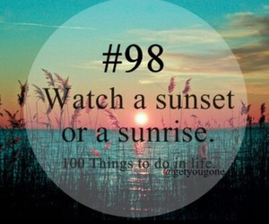 100, sunset, and 98 image
