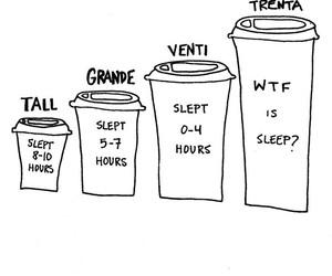 coffee, funny, and sleep image