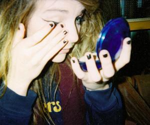 girl, hipster, and makeup image