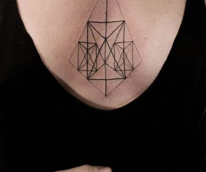 tattoo, geometric, and black image