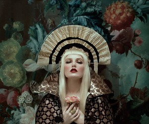 baroque, flowers, and fashion image