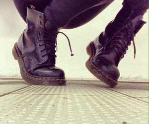 beauty, black, and doc martens image