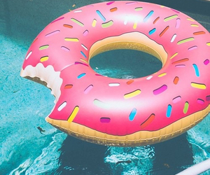 blue, donuts, and pool image