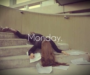 school, monday, and funny image