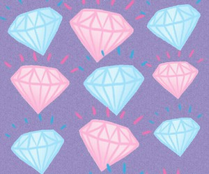 background, diamond, and pink image