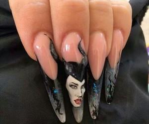 nail, nailsdesign, and maleficient image