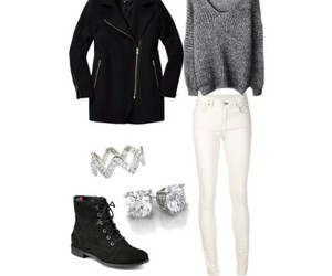 clothes, outfit, and sweater image