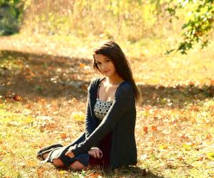 autumn, beautiful, and black hair image