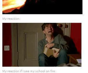 fire, harry potter, and school image