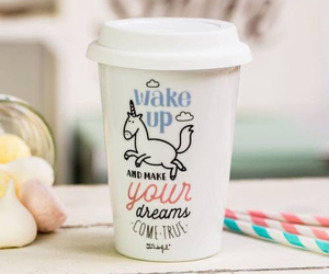 unicorn, coffee, and Dream image