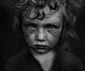 black and white, photography, and child image