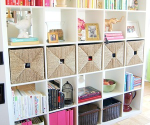 room, books, and decor image