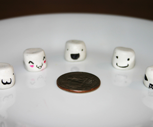 faces, marshmellows, and cute image