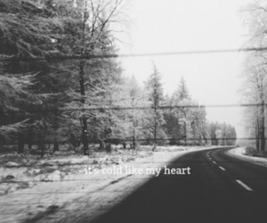 broken, cold, and heart image
