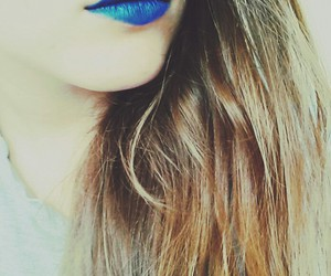 blue, hair, and lipstick image