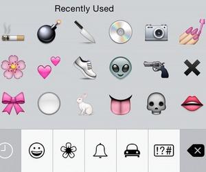 emoji, grunge, and pink image