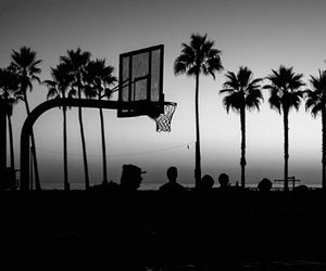 Basketball, court, and night image