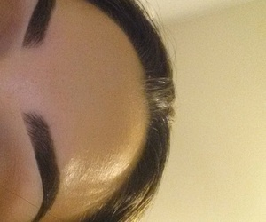 girl, beautiful, and eyebrows image