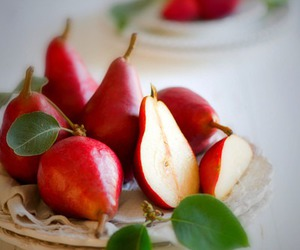 fruit, pear, and food image