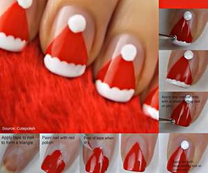 christmas and nail art image