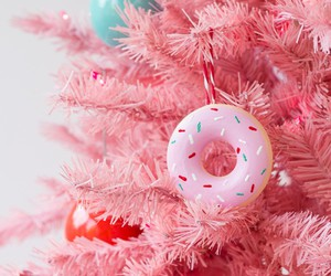 christmas, donuts, and pink image