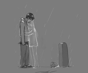 black, couple, and cry image
