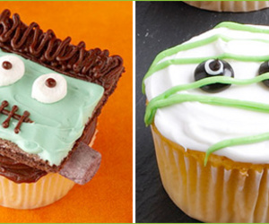 cupcakes, Halloween, and creative cupcakes image