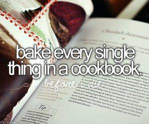 bucket list, cookbook, and bake image