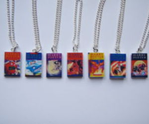 harry potter, books, and necklace image