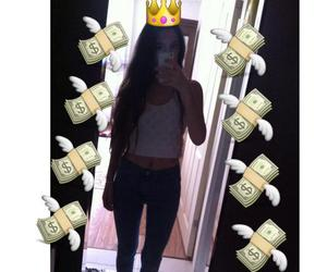 girl, icon, and money image