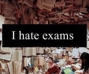 exam, hate, and school image